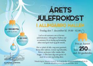 Kom til årets julefrokost i Allingåbro Hallen